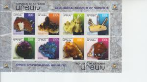 2018 Karabakh Minerals - Geological Museum MS8 (Scott NA) MNH