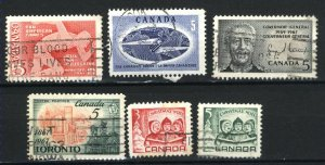 Can #472-77   -3    u   VF 1967 PD