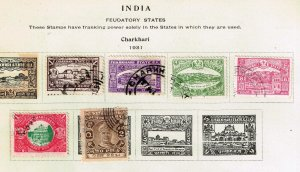 INDIA STAMP  USED STAMPS ON ALBUM PAGE #2