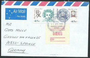 AUSTRALIA 1995 cover to Germany - nice franking - Sydney Pictorial pmk.....14708