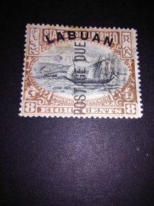 Labuan 1901j6  Postage Due used