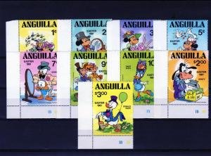 Anguilla 1981 DISNEY CHARACTERS set + s/s Perforated Mint (NH)
