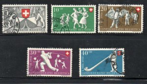 Switzerland Sc B201-05 1951 Games stamp set used