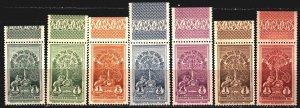 Ethiopia. 1930. 151-57. Lions, coronation of Emperor Haile Selasie. MNH.