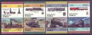 Tuvalu - Nukufetau 1986 Locomotives #2 (Leaders of the Wo...