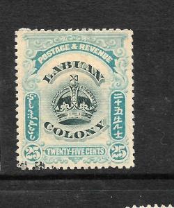 LABUAN   1902   25c  CROWN  FU   SG 126