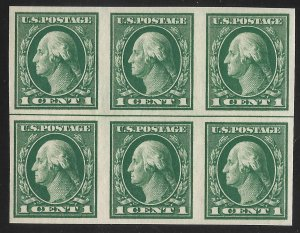Doyle's_Stamps: MNH 1916 Scott #481** Imperf Horizontal Line Block of 6 Stamps