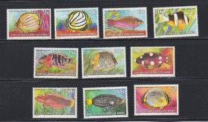 Cocos Islands # 35 / 50, Fish, Incomplete set, NH, 1/2 Cat.