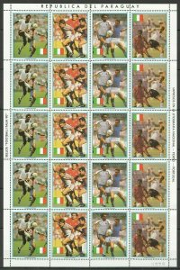 EC156 1989 PARAGUAY SPORT FOOTBALL WORLD CUP ITALY 90 MICHEL 36 EURO BIG SH MNH
