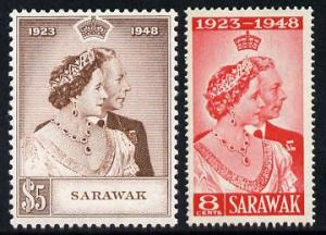 Sarawak 1948 KG6 Royal Silver Wedding set of 2 unmounted ...