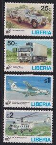 Liberia 1187-1190 UN, 50th Anniv. 1995