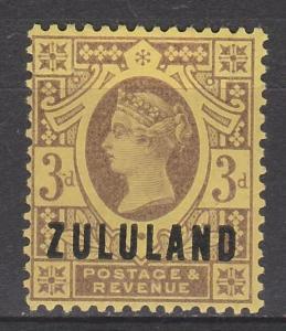 ZULULAND 1888 QV GREAT BRITAIN  3D