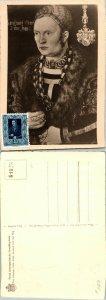 1953 LIECHTENSTEIN SINGLE ON CARD, 1953