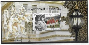 1999    BAHAMAS  -  SG.  MS 1188  -  QUEEN MOTHER'S CENTURY   -  MNH