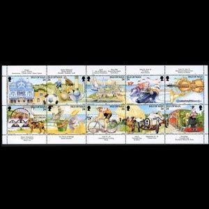 ISLE OF MAN 1994 - Scott# 586a Tourism Set of 10 NH
