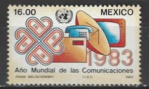Mexico  1310  MNH  UN World Communications Year 1983