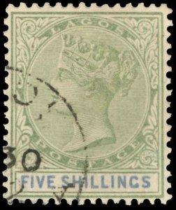 Lagos Scott 36 Gibbons 40 Used Stamp (1)