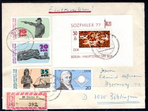 Germany DDR 1977 Registered Cover