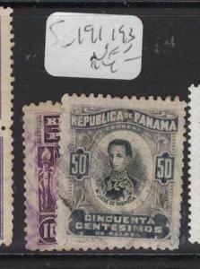 Panama SC 191, 193 VFU (8dtz)