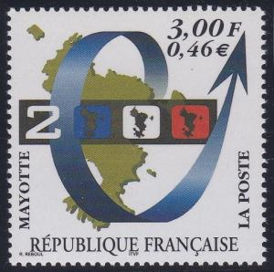 Mayotte 132 MNH (1999)