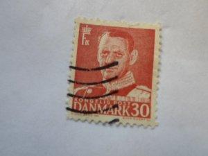 DENMARK STAMP. USED. hr # 37