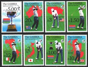 Gambia. 1992. 1444-51. Cricket sports. MNH.
