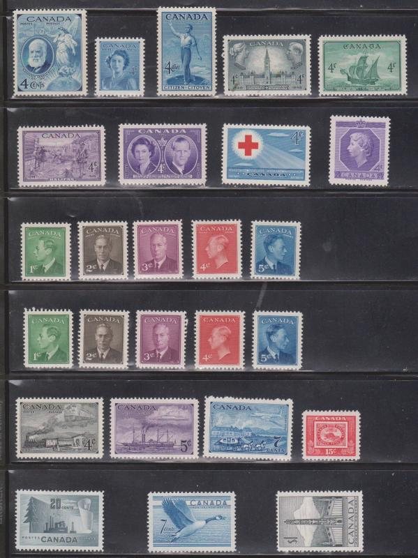 CANADA Collection Of Mint Hinged ( Some Remnants) - Good CV