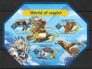 SOLOMON ISLANDS 2014 WORLD OF EAGLES (1) MNH