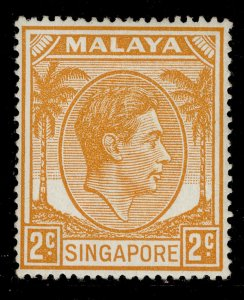 SINGAPORE GVI SG17, 2c orange, M MINT.