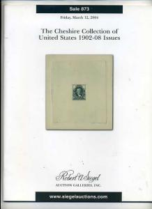 Siegal Auction Sale of the Cheshire Collection of US 1902-08
