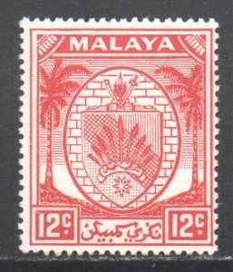 Malaya Negri Sembilan Scott 47 - SG51, 1949 Arms 12c Red MNH**