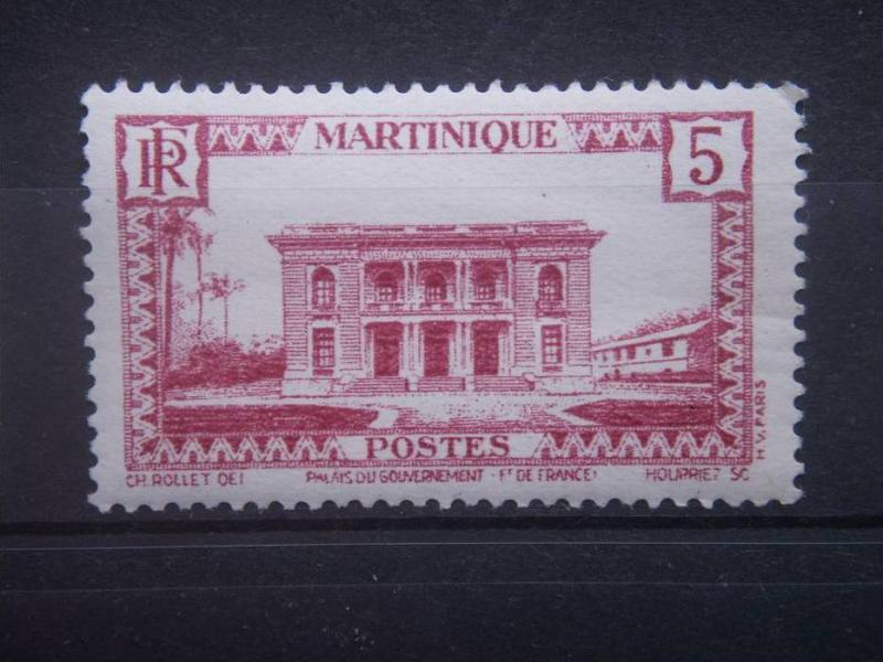 MARTINIQUE, 1933, used 5c, Government Palace Scott 137