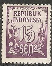 1951 Indonesia Scott # 374 Numeral MNH