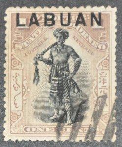 DYNAMITE Stamps: Labuan Scott #72 – USED