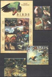 QC1666 GAMBIA FAUNA ART BIRDS THROUGH THE EYES FAMOUS PAINTERS KB+2BL+SET MNH