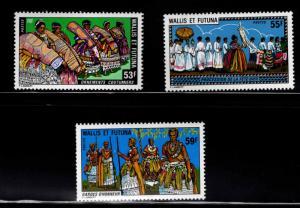 Wallis and Futuna Islands Scott 218-220  MNH** set