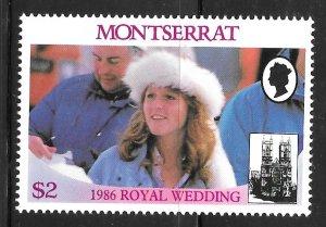 Montserrat 616b: $2 Sarah Ferguson, MH, VF