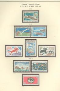 Afars & Issas 342-352 Mint VF NH (no 349-50)
