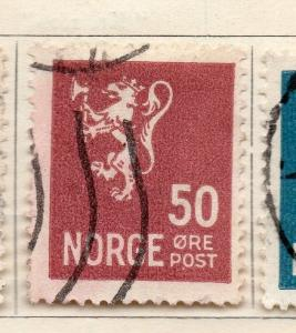 Norway 1926-28 Early Issue Fine Used 50ore. 257116