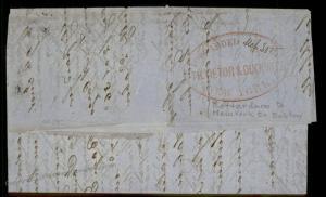 Netherlands USA 1849 NY Vietor Forwarding Agent Boston Transatlantic Cover 92190