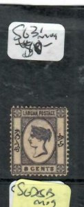LABUAN (P1811B)  QV CAMEO ISSUE 8C  SG  31    MOG