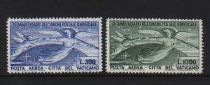 Vatican City #C18 - #C19 VF/NH  **With Certificate**