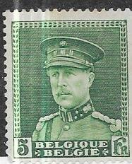 Belgium #235 5fr deep green (MNG)  CV 25.00