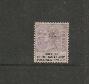 Bechuanaland 1888 QV Opts 1d on 1d MM SG 22