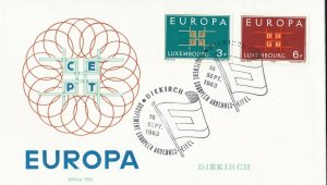 EU61) Luxembourg 1963 - Europa Stamps On First Day Cover