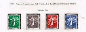 Switzerland Stamp 1939 National Philatelic Exhibition - German Inscription $23