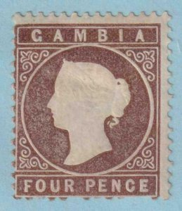 GAMBIA 9  MINT HINGED OG * PERF FAULTS - VERY FINE !