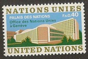 United Nations 22 Geneva Definitive single MNH 1972
