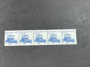 U.S.# 1906-MINT/NH--PLATE # COIL & LINE STRIP OF 5--(P#1)-----1981
