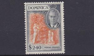 DOMINICA  1951  S G 134   $2.40  ORANGE & BLACK  MNH   MH